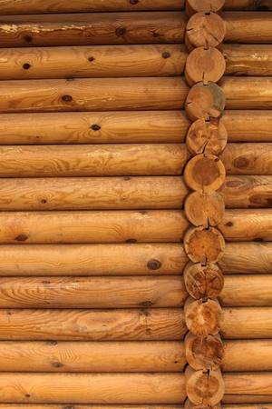 log wall: wood Stock Photo