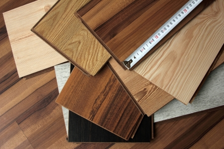 wood flooring: laminate Stock Photo