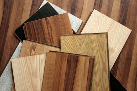 laminate flooring: laminate Stock Photo