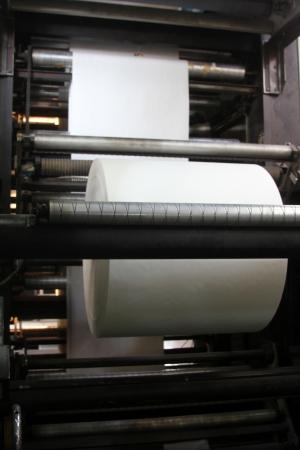 roll paper Standard-Bild