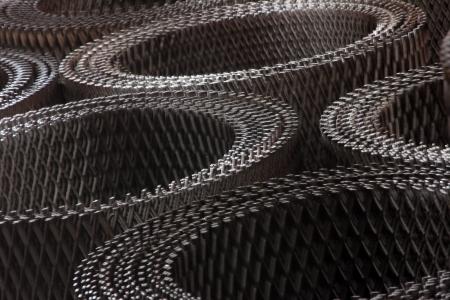 detain: metal mesh