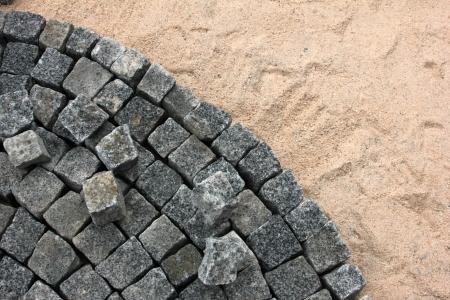 舗装作業 写真素材