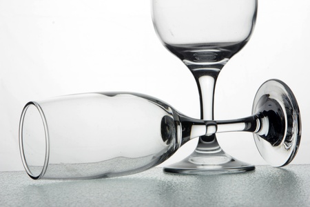 Empty champagne glasses Stock Photo - 14812806