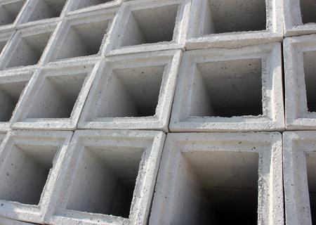 prefabricated: concrete bricks