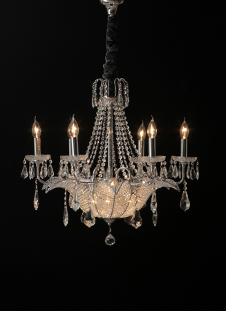 baroque room: chandelier