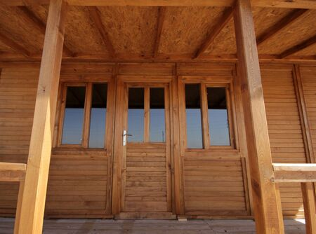wooden house: Wooden House Stock Photo
