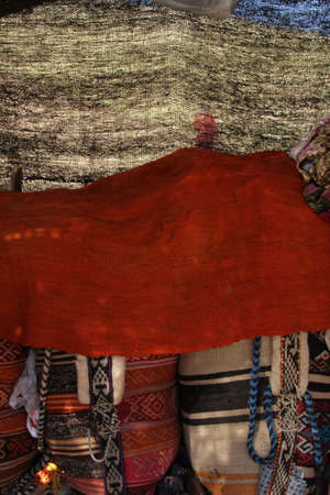 saddlebag: Nomad Tent Stock Photo