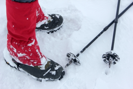 peccadillo: hiking shoes with snow
