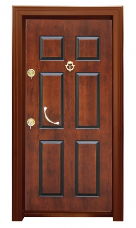 Wood door Banque d'images