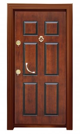 lumber room: Wood door Stock Photo