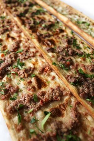 kebob: Turkish pizza Stock Photo