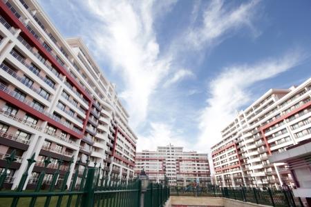 architectonics: Apartment Blocks Stock Photo