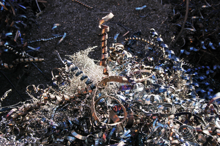 milling center: Recycling swarf Stock Photo