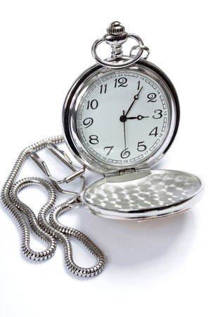Pocket watch on white photo