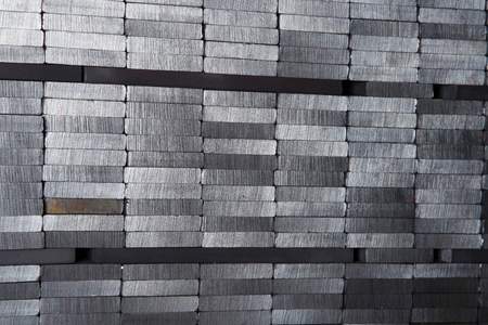 aluminum rod: Steel pipe Stock Photo