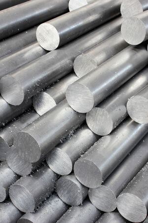 extruded: Steel pipe Stock Photo