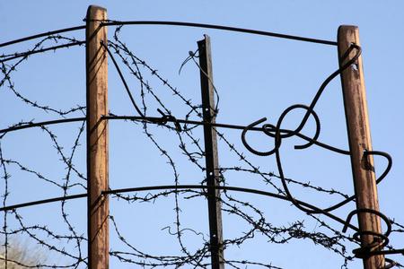 hazardous area sign: Wire
