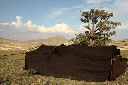 turkish ethnicity: Nomad Tent Stock Photo