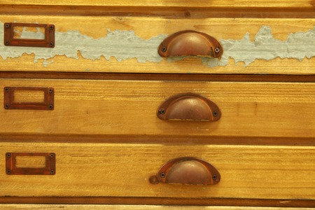 furniture part: Antique wooden tool cupboard