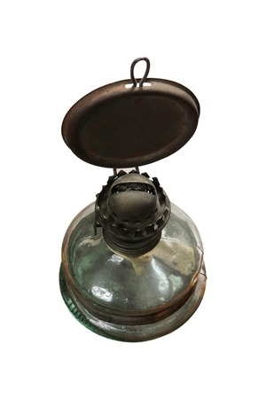 oil  lamp: Oil Lamp on White
