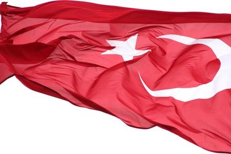 Turkse vlag Stockfoto