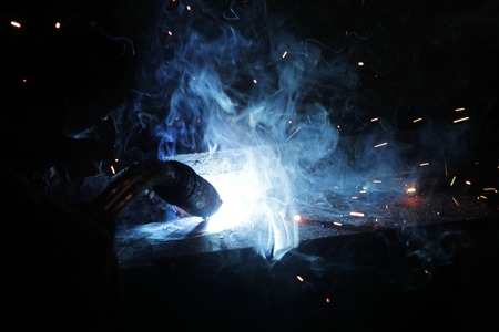working tools: Welding close up  Stock Photo