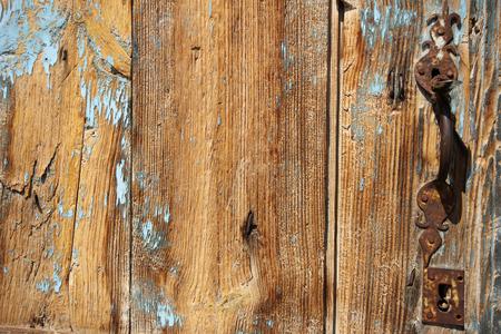 cipher: Wood door Stock Photo