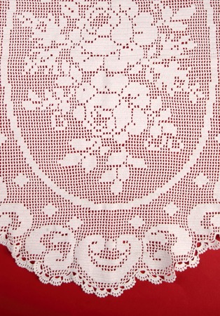 needlecraft product: Lace texture