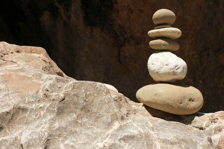 stepping stone: Stacked Stones