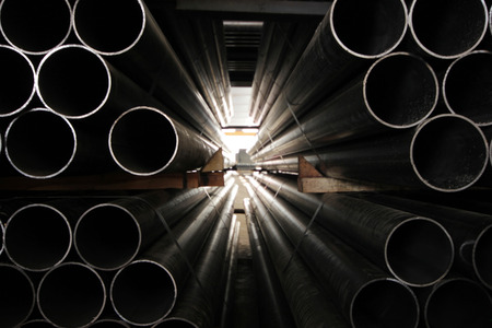 Steel Pipes Standard-Bild