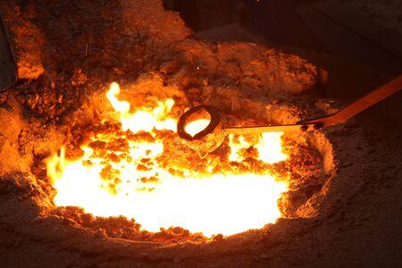 ductile: Liquid Molten Steel Industry