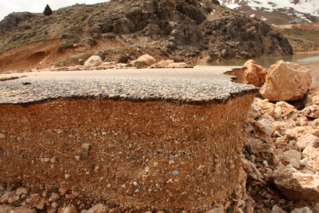 damaged: damaged asphalt