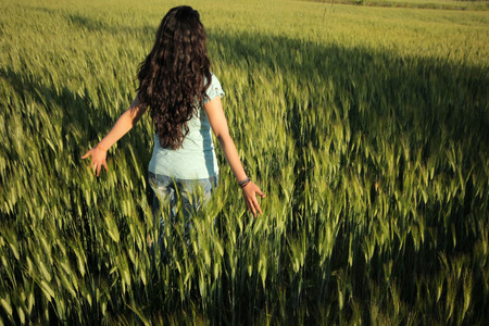 non cultivated: In the wheat field