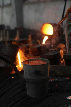 cast iron red: Liquid Steel Industry