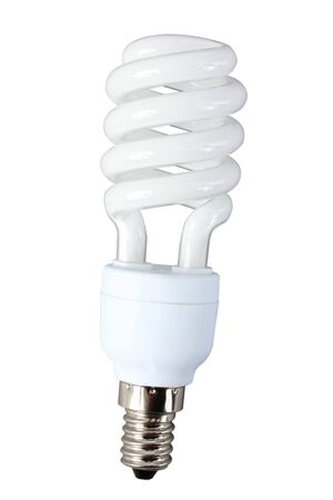 household fixture: Energy saving lamp on a white background