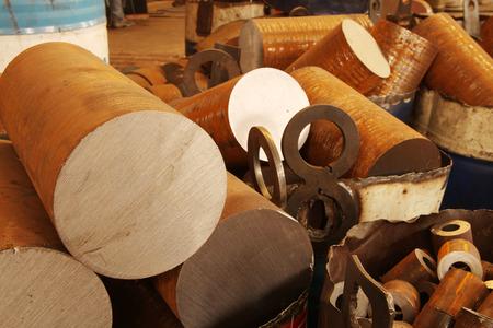 brass rod: Metal Stock Photo