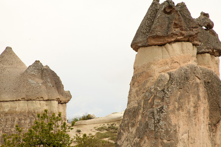cappadocia: Fairy Chimneys in Cappadocia Stock Photo