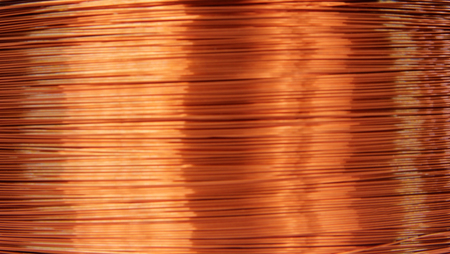 Kupfer Elektrischen Draht Isoliert Auf Weißem Hintergrund ...