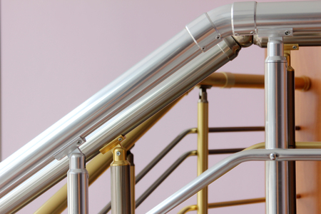 bannister: staircase railing