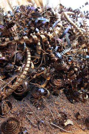 torn metal: Scrap Metal Stock Photo