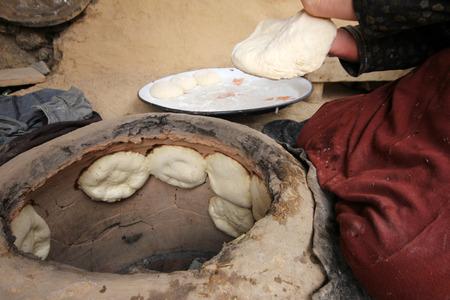 turkish ethnicity: Bread making, Turkey Stock Photo