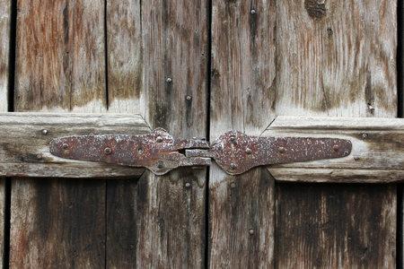 rusty nail: Wooden Door
