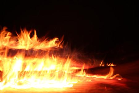 Wood Fire Stock Photo
