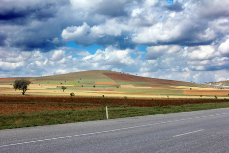 thoroughfare: Agricultural Land and Road