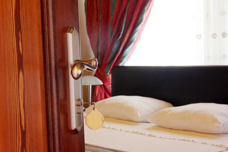 door knob: Hotel Room