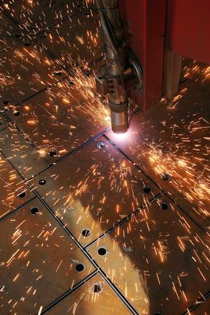 The CNC laser cut machine Reklamní fotografie