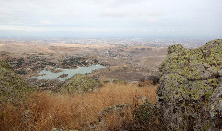 Konya City and Sille Dam Stock Photo