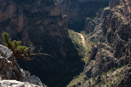 Rocky and deep canyon
