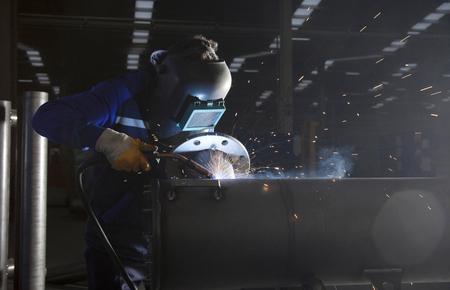 welding workshop and welder
