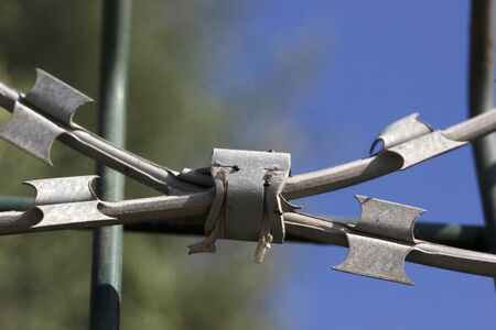 barbed wire mesh for safety
